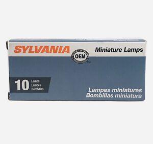 10x Sylvania 194 light bulb Mini OEM License Plate Miniature Bulb Side Marker