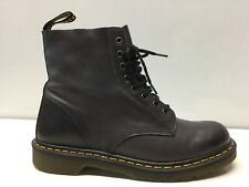 Dr. Martens Pascal Charcoal Leather Lace-Up Boots Women's Size 8M. ⭐️