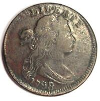 1798/7 Draped Bust Large Cent 1C - VF Details - Rare Overdate Coin!
