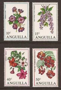 ANGUILLA 1970 SG72/75 Flowers MNH (JB18320)