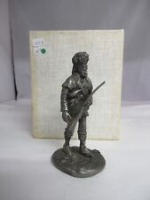"Vintage 1974 Franklin Mint ""The Pathfinder"" Pewter Statue, 245-E"