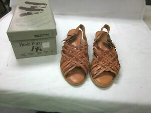 "VINTAGE WOMEN'S HUSH PUPPIES "" CAYMAN "" SUMMER SANDALS SZ.8 MED. NEW IN BOX"