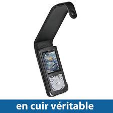 Noir Étui Housse Case Cover en Cuir véritable pour Sony Walkman NWZ-S765 Séries