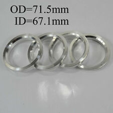 Wheel Hub Centric Rings Spacer OD=71.5mm ID=67.1mm Variable Hole Aluminium Alloy