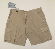 New w Tags Authentic Vilebrequin Linen Cargo Shorts Beige for Men Size XXL
