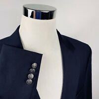 Michael Kors Mens 46R Blazer Dark Navy Silver Two Button 100% Wool Vented