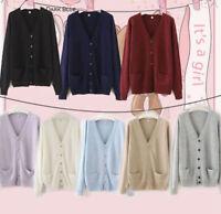 91cd87a918 Autumn Japanese Harajuku Long Sleeve V-neck Cardigan JK Uniform Sweater  Spring