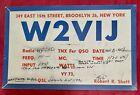 1947+QSL+Radio+Card+W2VIJ+Amateur+Radio%2C+Brooklyn%2C+New+York