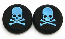 2 BLUE Skull Bones Silicone Thumb Stick Grips for XBOX ONE / 360, PS3 and PS4