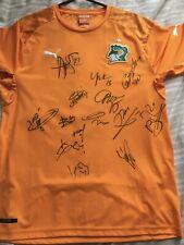Ivory Coast Multi Signed Shirt COA