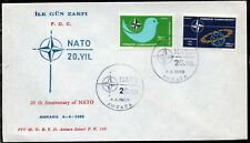 Turkey 1969 - The 20th Anniversary of NATO - FDC