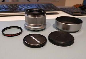 Olympus ES-M2518 M.Zuiko Premium 25mm F/1.8 Lens - silver with uv filter