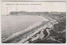 Yorkshire (North) postcard - North Bay and Bungalows, Scarborough - P/U 1927