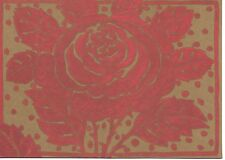 Isabelle de Borchgrave Red Rose Party Invitations - Set of 10 - New