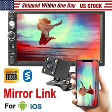 "7"" inch 2 Din Car Mp5 Player Wireless Touch Screen Mirror Link+ Rear Camera (Fits: Gmc Safari)"
