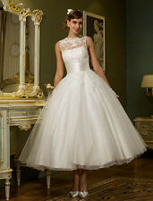 Classic Vintage 50's Inspired Plus Size White Wedding Dress 24 W