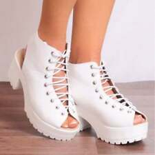 Unbranded 100% Leather Casual Lace-up Heels for Women