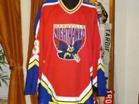 1996-97 NASHVILLE NIGHTHAWKS RED GAME WORN USED JERSEY