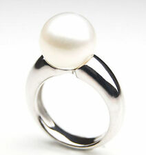 Pearl Solitaire Sterling Silver Fine Rings