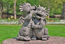Gartenfigur Gartendrache - Modell Liebesgeflüster - Fantasy Figur Deko Drache