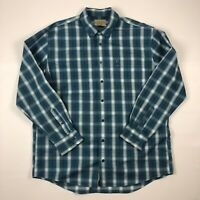 Cabelas Outfitter Series Mens Button Down Plaid Flannel Long Sleeve Shirt Sz XL