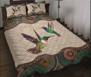 Hummingbird - Vintage Mandala Sky Animal Bedding Set
