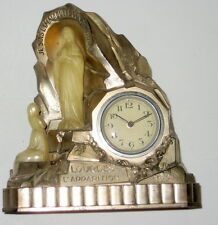 Antique Lourdes L'apparition French Clock with musical alarm