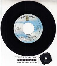 """EAGLES  Take It To The Limit 7"""" 45 rpm vinyl record + juke box title strip"""