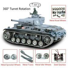 Us Stock 1/16 Henglong 6.0 Customized Panzer Iii L Rtr Rc Tank 3848 Metal Wheels