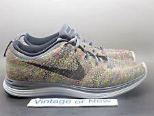 7a7ef6a572ed Men s Nike Flyknit Lunar+ 1 Multicolor Racer Running Shoes 554887-004 sz 12