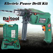 Raitool 1580W Electric Power Driver Impact Drill 13mm Chuck Set Kit with Bits