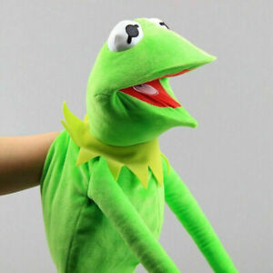 70cm Kermit the Frog Hand Puppet Full Body Muppet Sesame Street Plush Toy Prop