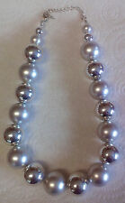 FABULOUS SILVER BALL NECKLACE ** GREAT GIFT **