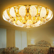 Remote Control Crystal LED Chandeliers Home Ceiling Light Gold Lighting Fixtures