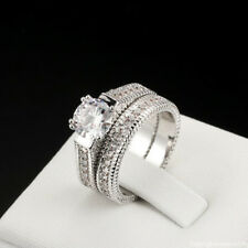 Buy Silver Wedding Ring Sets Ebay