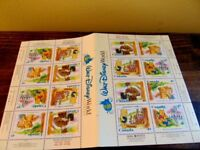 Walt Disney World 25th Anniversary Canada Stamp sheet Winnie the Pooh booklet
