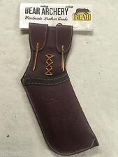 Bear Archery Hip QUIVER  by Neet Products Brown Leather Right Hand