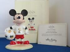 DISNEY ~ LENOX ~ MICKEY SOCCER STAR ~NEW IN BOX ~COA ~ FREE SHIP USA