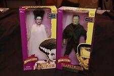 2 Hasbro Kenner Signature Universal Monsters Frankenstein & Bride Figure MIB Lot