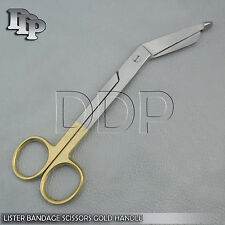 "Lister Bandage Scissors 5.5"" With Gold Handles Surgical"