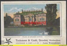 Werbung - Dresden Palais im Garten - Tiedemann & Grahl