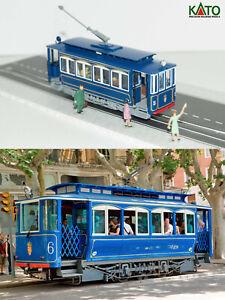 Barcelona Tramvia Blau 1903 tram HO/N gauge (HOe) - motorized figures KATO ATLAS