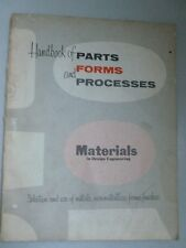 Parts, Forms and Processes- a Materials Handbook for manufacturing plant set-up