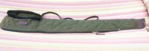 """Vintage Leather & Canvas Cabelas, by Boyt Rifle / Shotgun Case 52"""" Long x 8"""""""