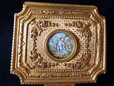 Boîte Coffret Bronze Doré Miniature  Angelot, Début XIX ème