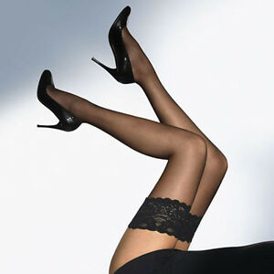 I jFashion Lady's Lace Silicone Top Stay Up Thigh-High Stockings Woman Pantyhose