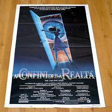 AI CONFINI DELLA REALTA' manifesto poster affiche Twilight Zone Dan Aykroyd Eye