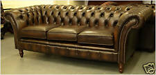 Chesterfield leather suite chair sofa B/NEW SALE