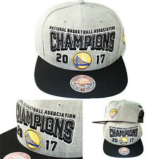 Mitchell & Ness Golden State Warriors Grey Snapback Hat 2017 NBA Champions Cap