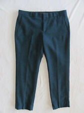 Banana Republic Ryan Slim Pants-Wool Blend Tweed-Green/Black-Size 12P- NWT $79